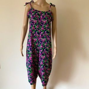 HANDCRAFTED | Cropped floral jumpsuit
